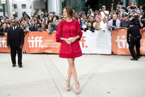 "Actress Julia Roberts poses for a photograph on the red carpet at the gala for the film ""August, Osage County "" during the 2013 Toronto International Film Festival in Toronto on Monday, Sept. 9, 2013. (AP Photo/The Canadian Press, Nathan Denette)"