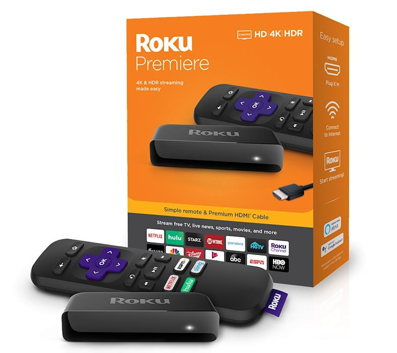 The Roku Premiere offers 4K, HDR streaming capabilities in an affordable package. (Image: Roku)
