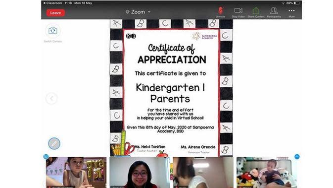 Gisel juga mengucapkan terima kasihnya kepada pihak sekolah dan guru-guru yang dengan sabar mendidik putrinya. (Instagram/gisel_la)