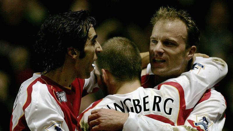 Dennis Bergkamp Arsenal Manchester United