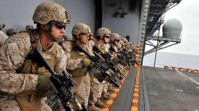 VIVA Militer: Pasukan Korps Marinir Amerika Serikat (US Marine Corps)