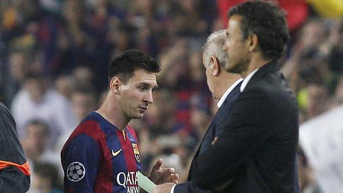 Messi dan Luis Enrique. (Doc)