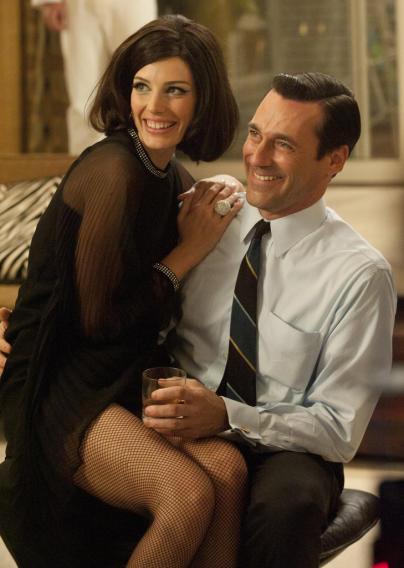 Megan Draper (Jessica Pare) and Don Draper (Jon Hamm)