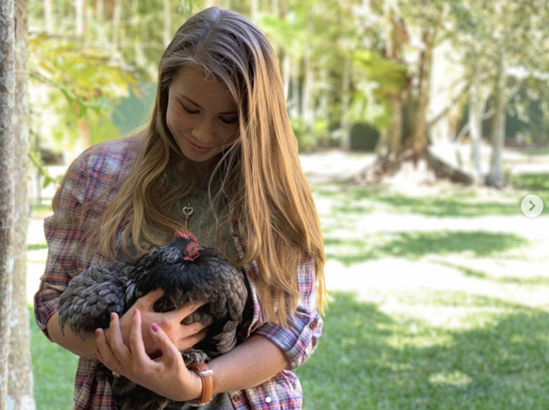 Bindi Irwin is mourning the loss of one of her family's favourite pets. Photo: Instagram/bindisueirwin/