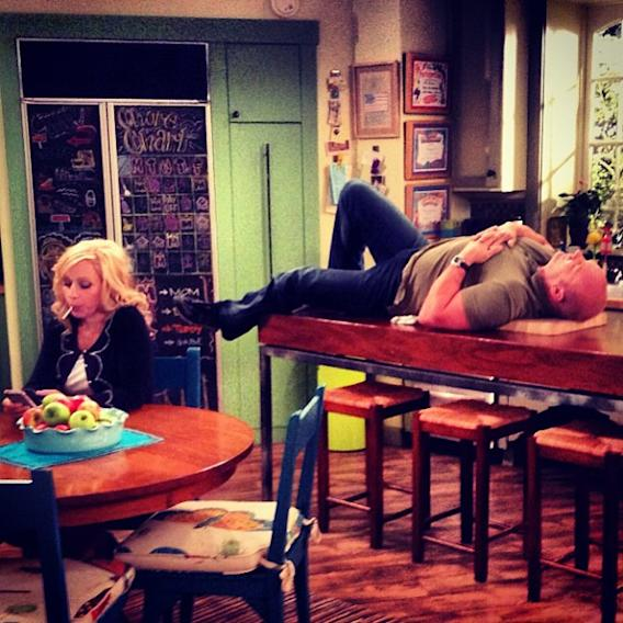 Scene prep… Professional Actors in action… #goodluckcharlie