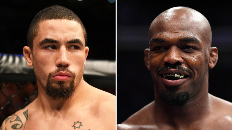 Rob Whitaker (pictured left) and Jon Jones (pictured right). (Getty Images)