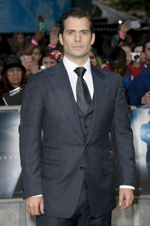 British actor, Henry Cavill arrives for the European Premiere of 'Man Of Steel', London, Wednesday, June 12, 2013. (Photo by Jonathan Short/Invision/AP)