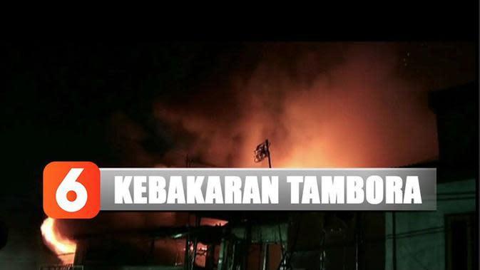 Kebakaran di Tambora Hanguskan Belasan Toko dan Rumah Warga