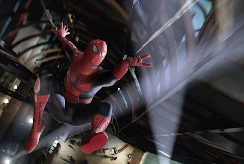 """FILE - This undated file photo released by Columbia Pictures shows Spider-Man is a scene from the film """"Spider-Man 3."""" Spider-Man, Iron Man and The Incredible Hulk can continue to reside in Marvel's offices after a federal appeals court on Thursday, Aug. 8, 2013, rejected an ownership claim by the children of Jack Kirby, an artist who helped create them. (AP Photo/Columbia Pictures, File)"""