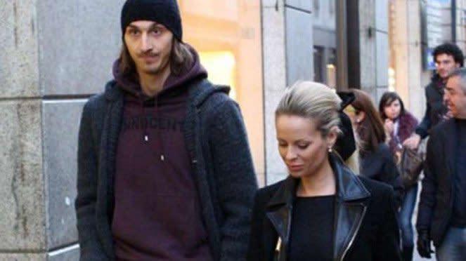 Zlatan Ibrahimovic dan kekasihnya Helena Seger