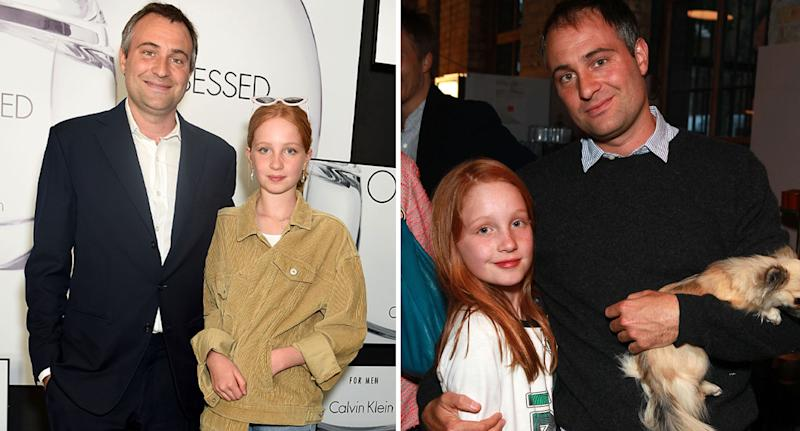 Photo of Iris Annabel with her father Ben Goldsmith in 2017 and 2015.