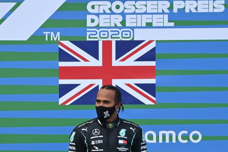'Incredible honour': Towering Hamilton wins Eifel GP, equals Schumacher's record