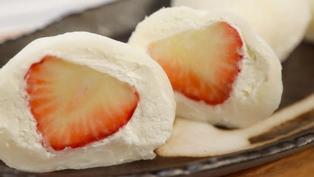 草莓奶油大福|雪媚娘做法|日式甜點和菓子