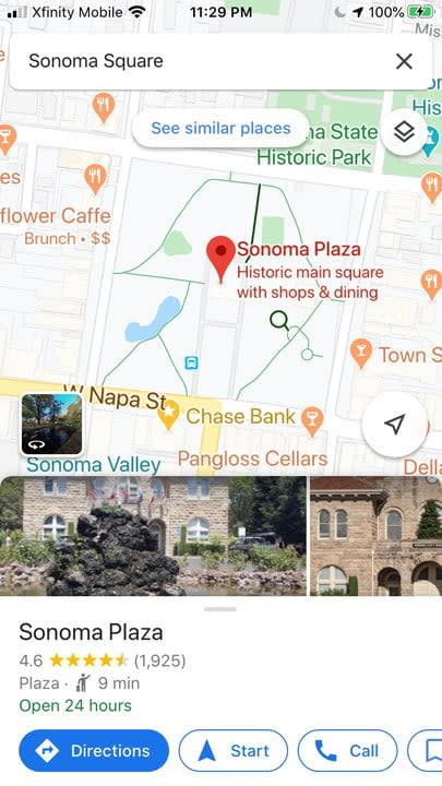 Google Maps voice