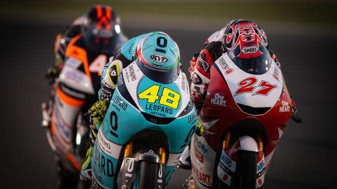 Satu-satunya pembalap Indonesia di kelas Moto2 2020, Andi Gilang (nomor motor 27). (MotoGP)