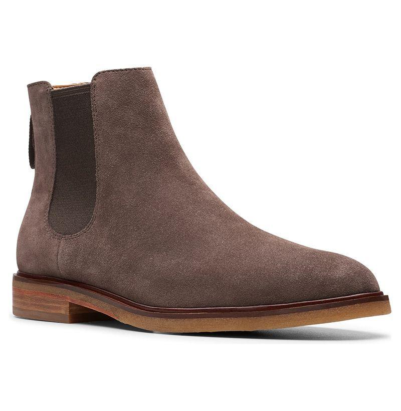 """<p><strong>Clarks</strong></p><p>nordstrom.com</p><p><strong>$170.00</strong></p><p><a href=""""https://go.redirectingat.com?id=74968X1596630&url=https%3A%2F%2Fshop.nordstrom.com%2Fs%2Fclarks-clarkdale-gobi-chelsea-boot-men%2F5046213&sref=https%3A%2F%2Fwww.esquire.com%2Fstyle%2Fmens-fashion%2Fg27091351%2Fbest-suede-chelsea-boots%2F"""" target=""""_blank"""">Buy</a></p><p>Clarks is no one-hit wonder. The brand's Chelsea boots are as comfortable as the desert boot style it's famous for (and, for my money, maybe even a tad more stylish if your tastes run a little sleeker). </p>"""
