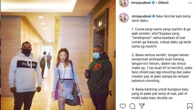 Unggahan Ayu Dewi (instagram.com/mrsayudewi)