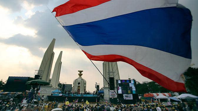Ilustrasi bendera Thailand (AP/Sakchai Lalit)