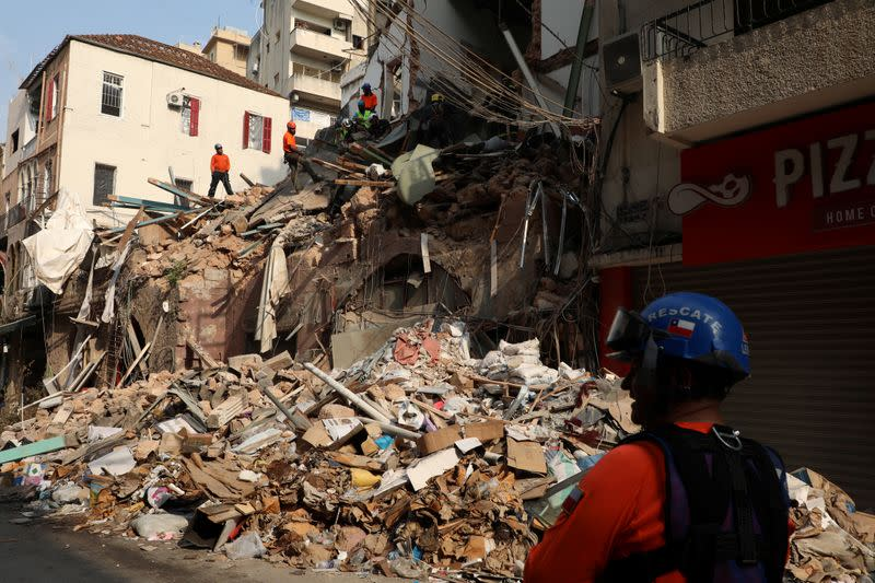 Signs of life detected under rubble a month after Beirut blast, says rescuer
