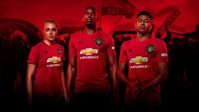 Jersey laga kandang Manchester United untuk musim 2019-2019. (Twitter/Adidas Football)