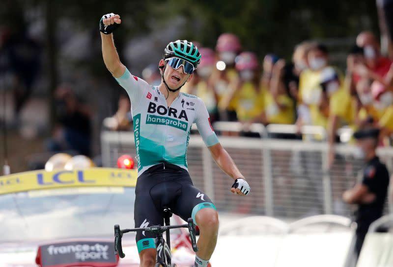 Germany's Kaemna wins Tour de France 16th stage, Roglic retains lead