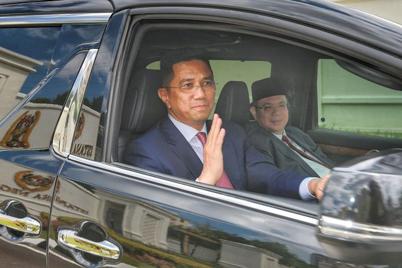 Datuk Seri Mohamed Azmin Ali was among the Bersatu MPs who had a meeting with Tun Dr Mahathir Mohamad. — Picture by Ahmad Zamzahuri