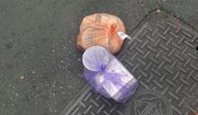 外送員把餐點當垃圾丟路邊 網點2關鍵質疑:有問題