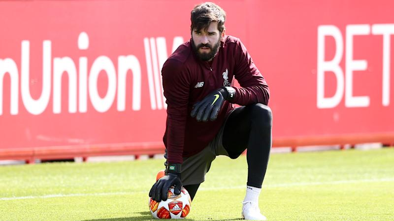 Liverpool's Alisson making 'steady progress' after return to training, says Liverpool coach