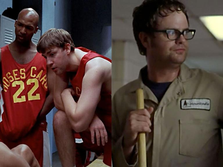 "John Krasinski '04 -- ""Mad Hope"" (CI), Rainn Wilson '02 -- ""Waste"" (SUV)"