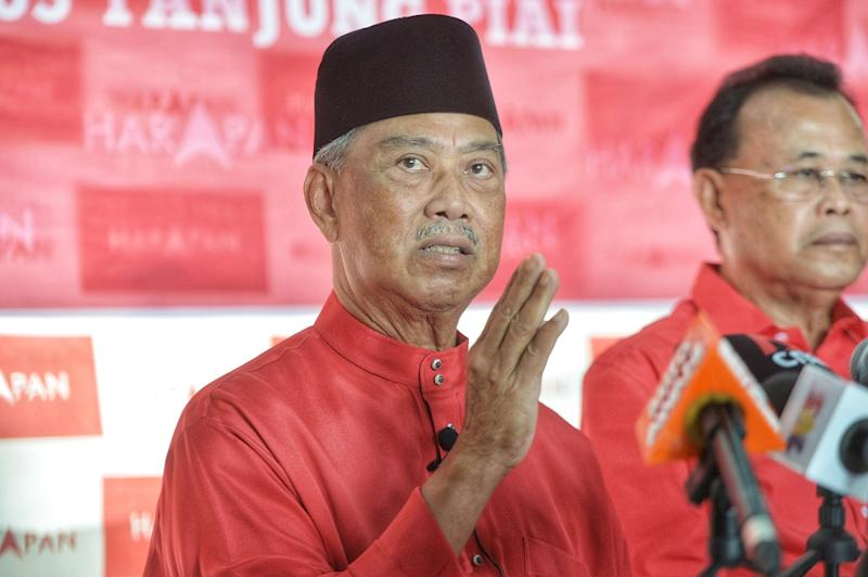 PPBM president Tan Sri Muhyiddin Yassin speaks to reporters during a press conference at the Pakatan Harapan operation room in Tanjung Piai November 15, 2019. — Picture by Shafwan Zaidon