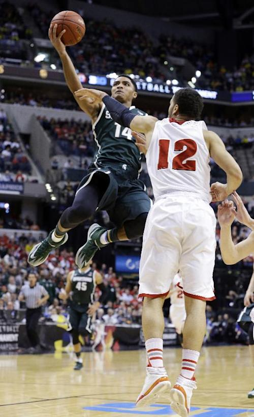 Michigan State beats Wisconsin in Big Ten tourney