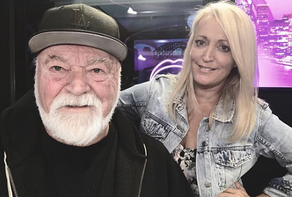 """""""Will you guys still listen if we're on air when we're this old?"""" KIISFM hosts Kyle and Jackie O asked their followers. Kyle definitely coming off worse than Jackie with the face app. Photo: Instagram"""