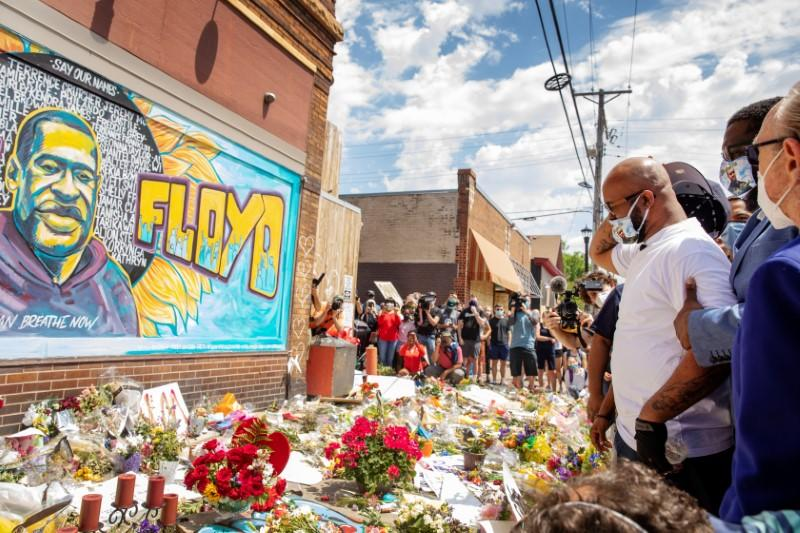 'We will keep fighting for you:' Site of deadly incident becomes massive memorial to George Floyd