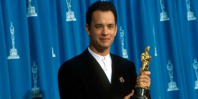Tom Hanks With His Oscar