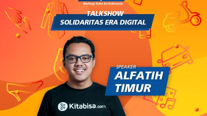 CEO & Co Founder kitabisa.com, Alfatih Timur.