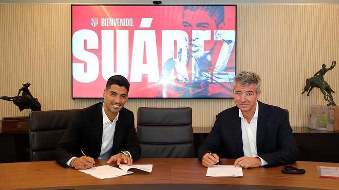 Luis Suarez menandatangani kontrak dua musim dengan Atletico Madrid. (foto: Instagram @atleticodemadrid)