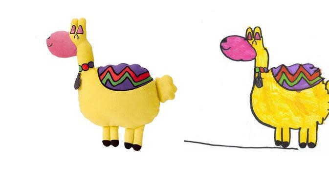LAMMA dirancang oleh Christel, 6 tahun, pemenang kompetisi menggambar boneka oleh IKEA. (dok. IKEA)