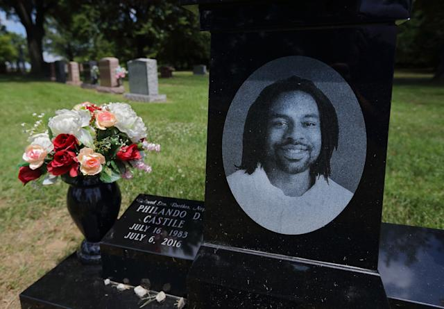 The shooting death of Philando Castile, who is buried in St. Louis, helped touched off nationwide protests against police brutality. (AP)