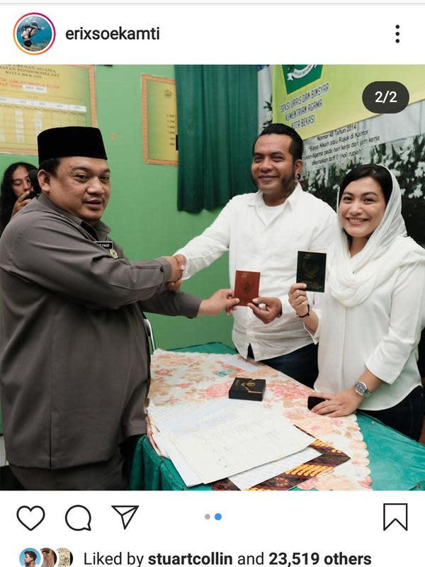 Erix Soekamti Resmi Menikah