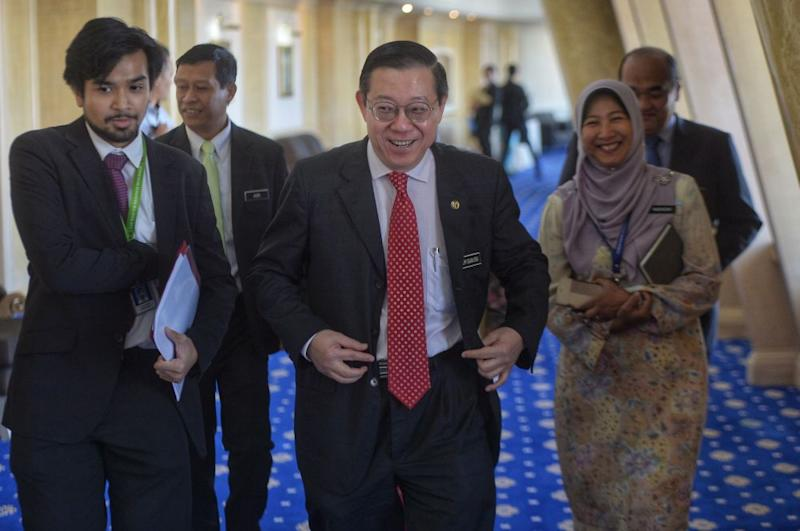 Finance Minister Lim Guan Eng arrives for the LIFT (Literacy in Financial Technology) festival in Putrajaya December 12, 2019. — Picture by Shafwan Zaidon