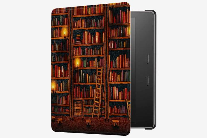Photo of the Huasiru Kindle Oasis Case in Library design