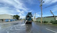 號召企業認養道路洗掃街 共同維護台南好空氣