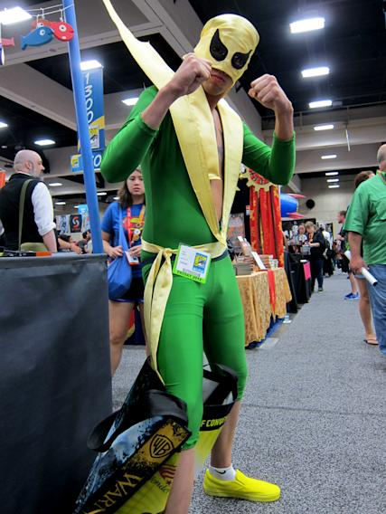 His name is Iron Fist and these are his iron fists - San Diego Comic-Con 2012