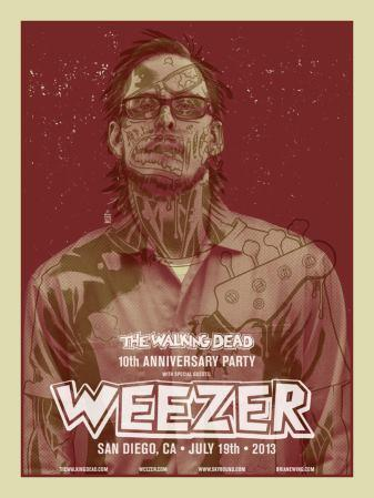 Zombified Members of Weezer Rock Out at Comi-Con 'Walking Dead' Party
