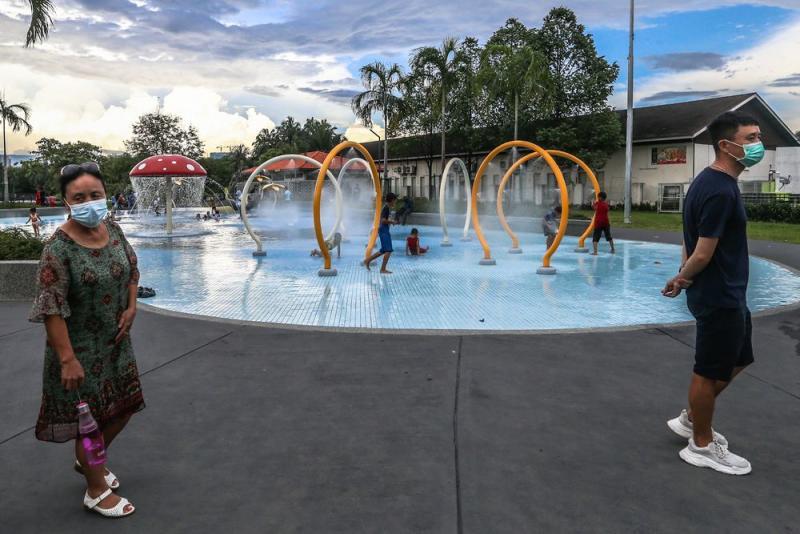 Children playing at the playground at Titiwangsa Lake Gardens in Kuala Lumpur March 15, 2020. — Picture by Firdaus Latif