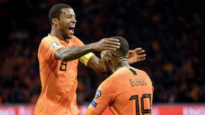 Tim nasional Belanda (KOEN VAN WEEL / ANP / AFP)
