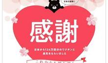 謝謝日本捐疫苗 130企業合力登報