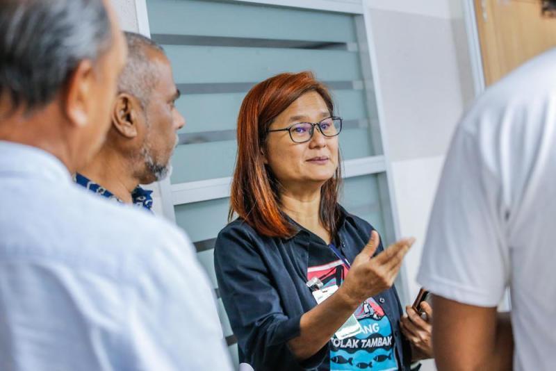 Penang Forum committee member, Khoo Salma Nasution, at the handover of the Penang Tolak Tambak memorandum in Kuala Lumpur January 16, 2020. — Picture by Hari Anggara