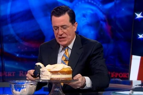 Stephen Colbert Makes a Cake for Gays (Video)