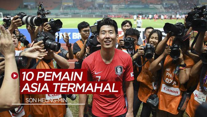 MOTION GRAFIS: 10 Pemain Asia Temahal Saat Ini, Son Heung-Min Teratas